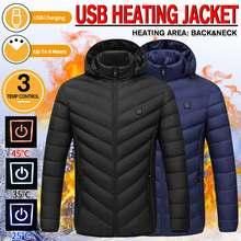 USB infrarouge veste chauffante pour hommes femmes hiver étanche à manches longues à capuche doudoune randonnée électrique thermique vêtements manteau