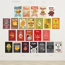 Металлический плакат fastfood металлический винтажный жестяной