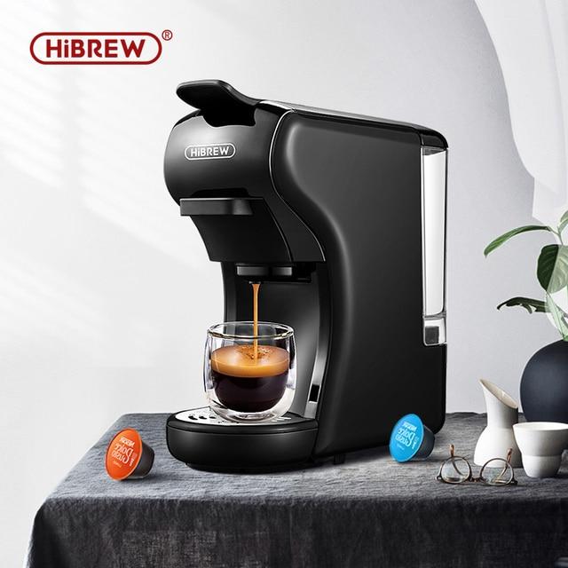 HiBREW Coffee Machine 19 Bar 3in1&4in1 Multiple  Capsule Espresso  Cafetera , Pod  Coffee Maker Dolce Milk&Nexpresso &Powder  H1 1