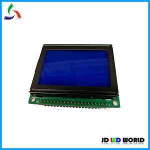12864 LCD Module Controller KS0108 Gray &blue Color screen 54X50mm