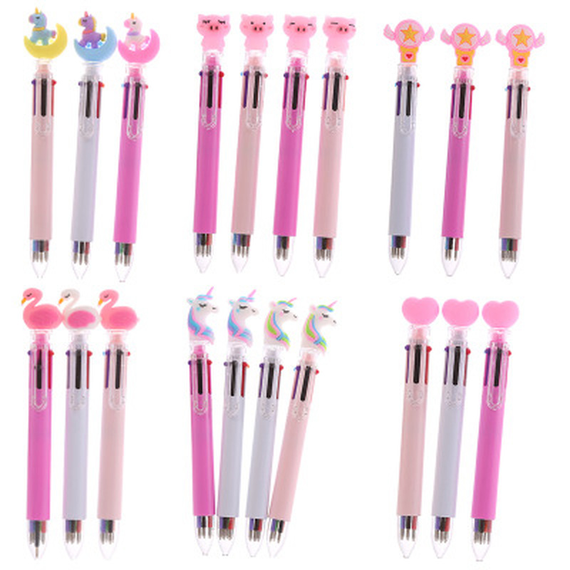 1pcs Unicorn Gel Pen 10 Colors Novelty Stationery Gel Pens Student Cute Kawaii Pen Black Signature Pen Kawaii School Supplies