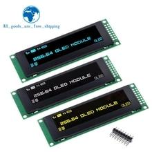 "TZT جديد OLED عرض 2.8 ""256*64 25664 نقطة الرسم وحدة عرض LCD شاشة LCM SSD1322 تحكم دعم SPI"