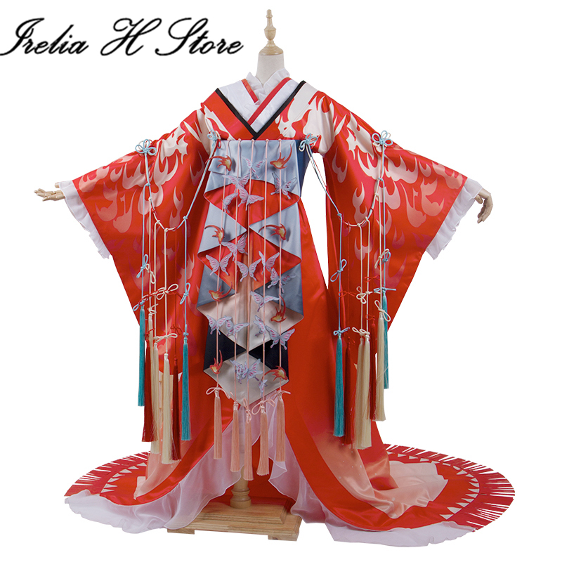 Onmyoji Shiranui Cosplay costume Halloween Kimono costumes 1