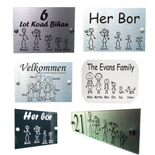Customize French Door Plaque Personalised Stick Family House Name Or Number Door Sign