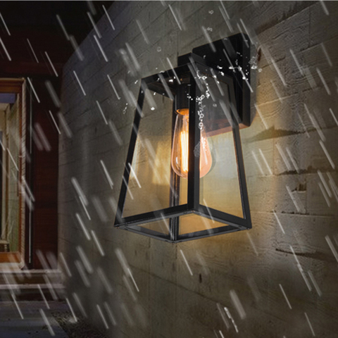 americano do vintage lampada de parede ao