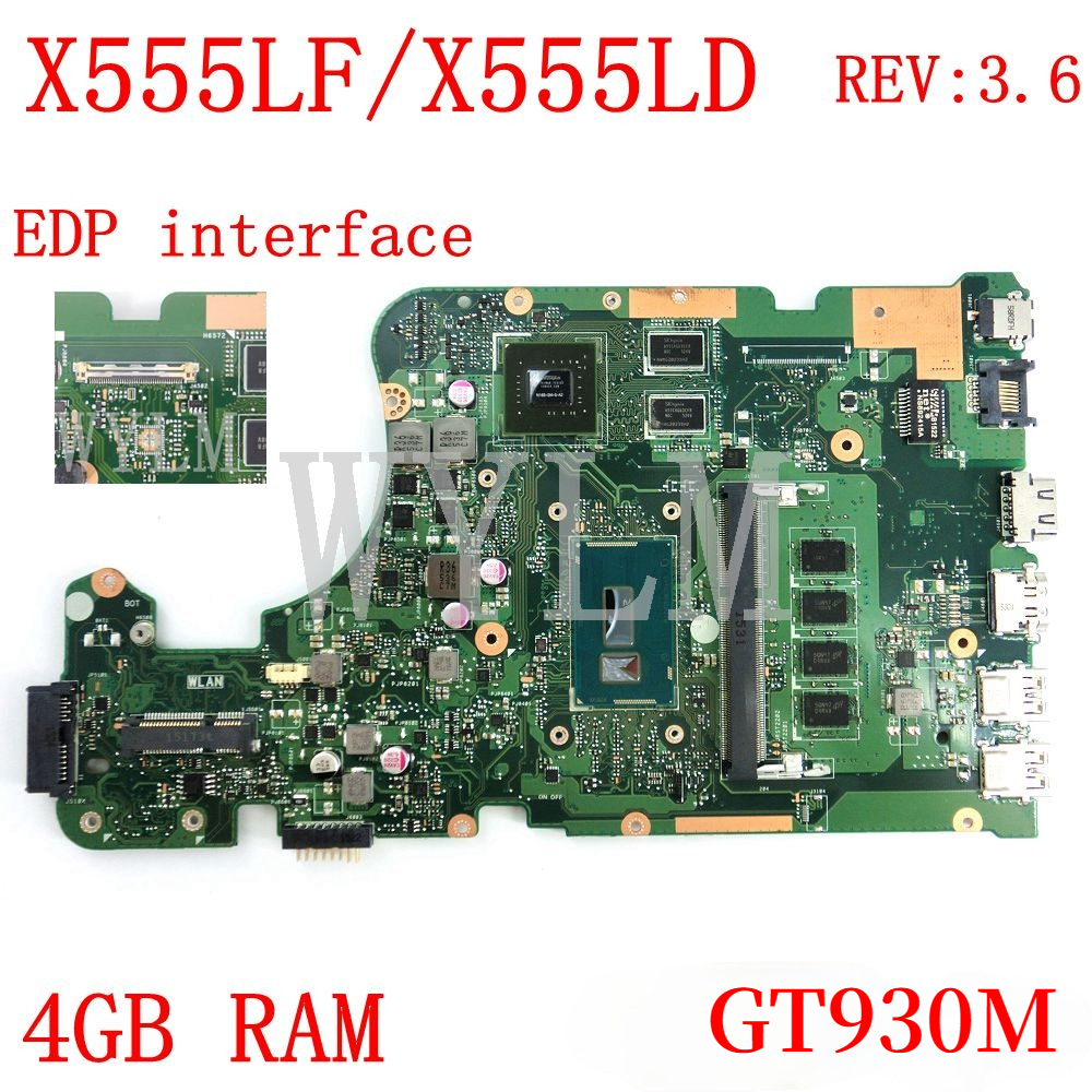 X555LF EDP интерфейс 4 Гб Оперативная память GT930M REV3.6 материнская плата для ноутбука ASUS X555LJ X555LD X555L A555L K555L F555L материнская плата для ноутбука тести...