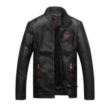 Faux Leather Jackets Men High Quality Classic Motorcycle Bike Cowboy Jacket Winter Warm Coat Male Plus Size Thick Coats 5XL K125