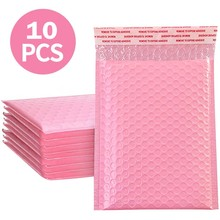 Foam Envelope Bags Self Seal Mailers Padded Shipping Envelopes With Bubble Mailing Bag Shipping Gift Packages Bag Pink 10pcs