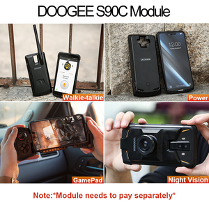 Image 5 - IP68 DOOGEE S90C Modular Rugged Mobile Phone Helio P70 Octa Core 4GB 64GB 16MP+8MP 6.18inch Display 12V2A 5050mAh Android 9.0