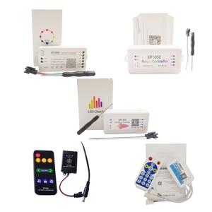 Music Wifi Bluetooth RGB Led Strip Controller For WS2812B WS2811 SK6812 UCS1903 LPD6803 WS2801 Led Strip Light DC5-24V(China)