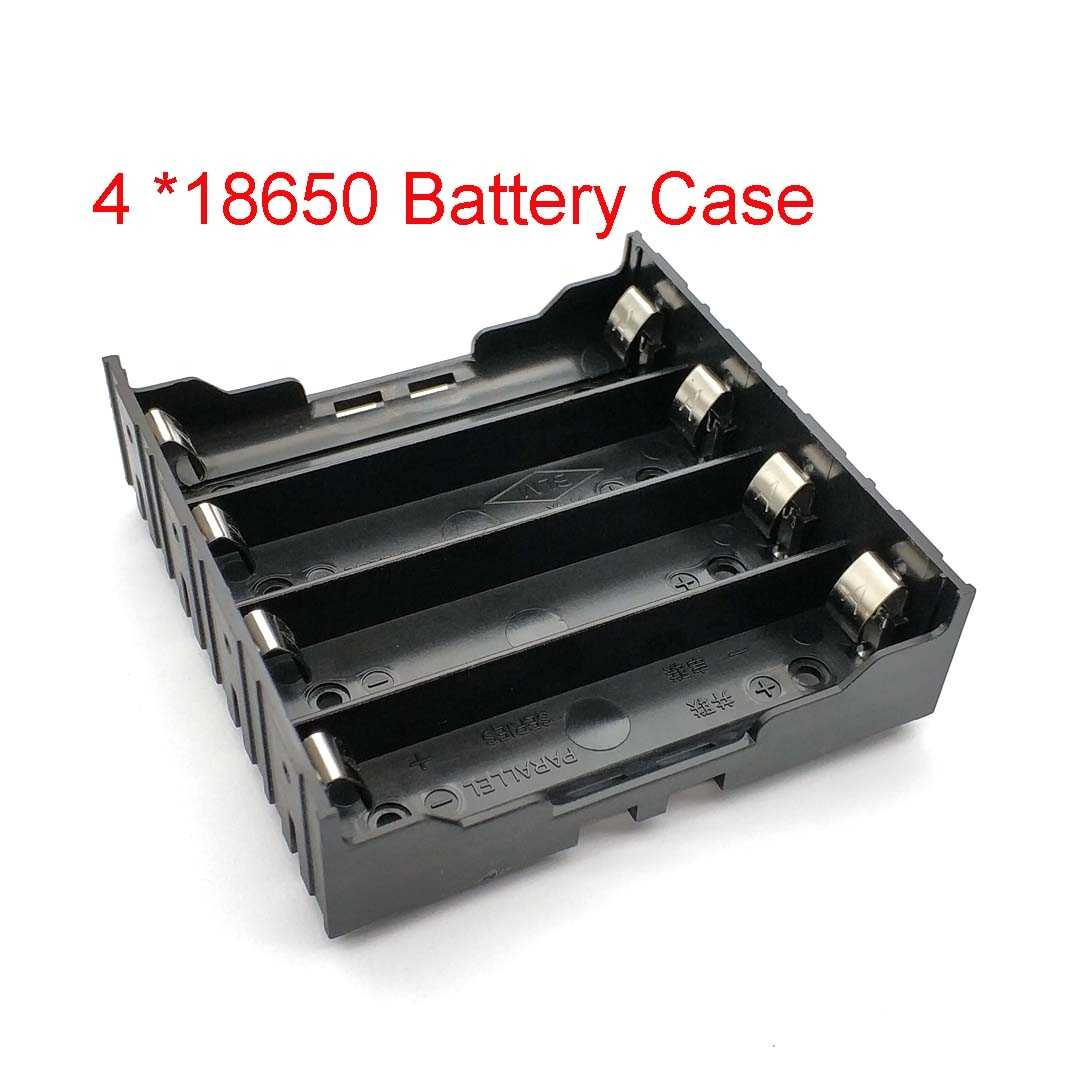 Di alta Qualità 18650 Battery Box Holder Caso Batterie per 4pcs 18650 in Parallelo 3.7V Palo Nero per la saldatura