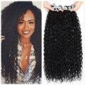 Синтетические пряди для наращивания волос афро, привлекательный локон длинные волосы пряди на заколках 26