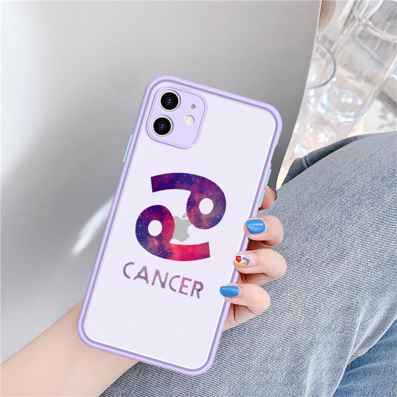 Zodiac Sign Transparent Matte Bumper Phone Case for iPhone 11 Pro