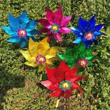 Windmill Toys Garden-Decoration Outdoor Children Kids Glow Gifts Glitter-Sequin Colorful