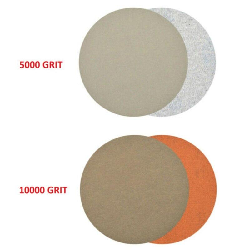 30pcs Set 75mm Multiple 60-10000 Grits Wet/Dry Hook And Loop Sanding Discs