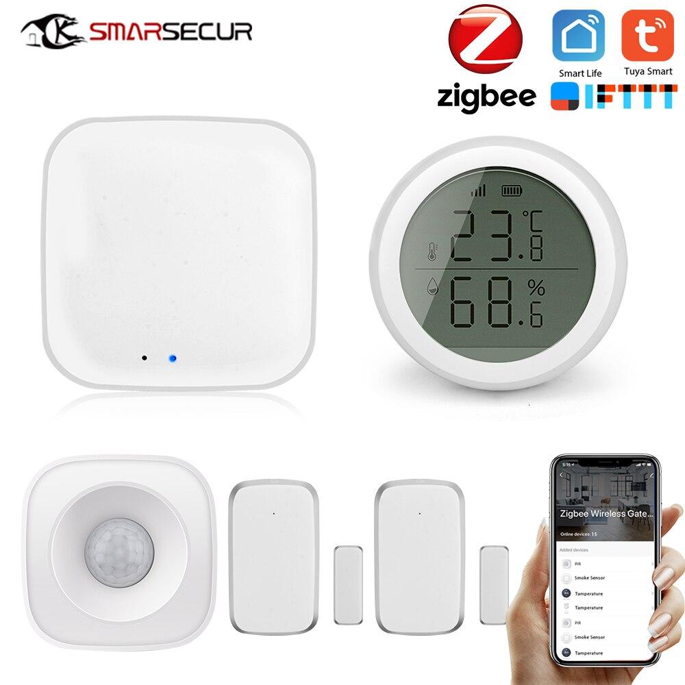 SMARSECUR ZigBee Smart Home Security Kit pro Controller Hub Smart Remote Control,Zigbee Motion Sensor Door & Window Sensor