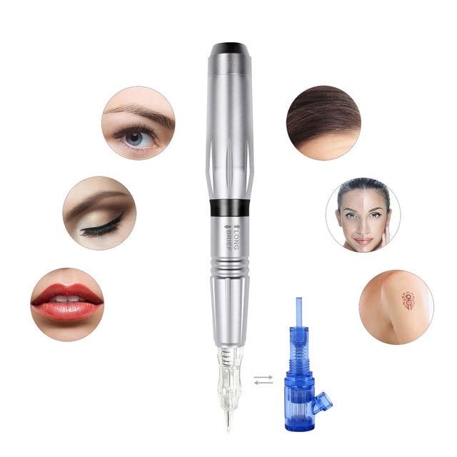 Máquina para maquillaje permanente, pistola de tatuaje profesional con Motor suizo, pluma de tatuaje para cejas 3D con Biomaser, juego de agujas