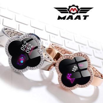 Venta al por mayor de relojes inteligentes delgados para mujeres y señoras, Monitor de ritmo cardíaco, Monitor de ritmo cardíaco, relojes brillantes, pulsera deportiva