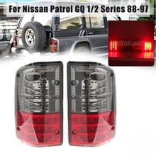 Światło tylne dla Nissan Patrol GQ 1988 1988-1997 seria 1 2 26555-05J00 czerwony wędzony tylny lewy/prawy tylny zderzak lampa Stop