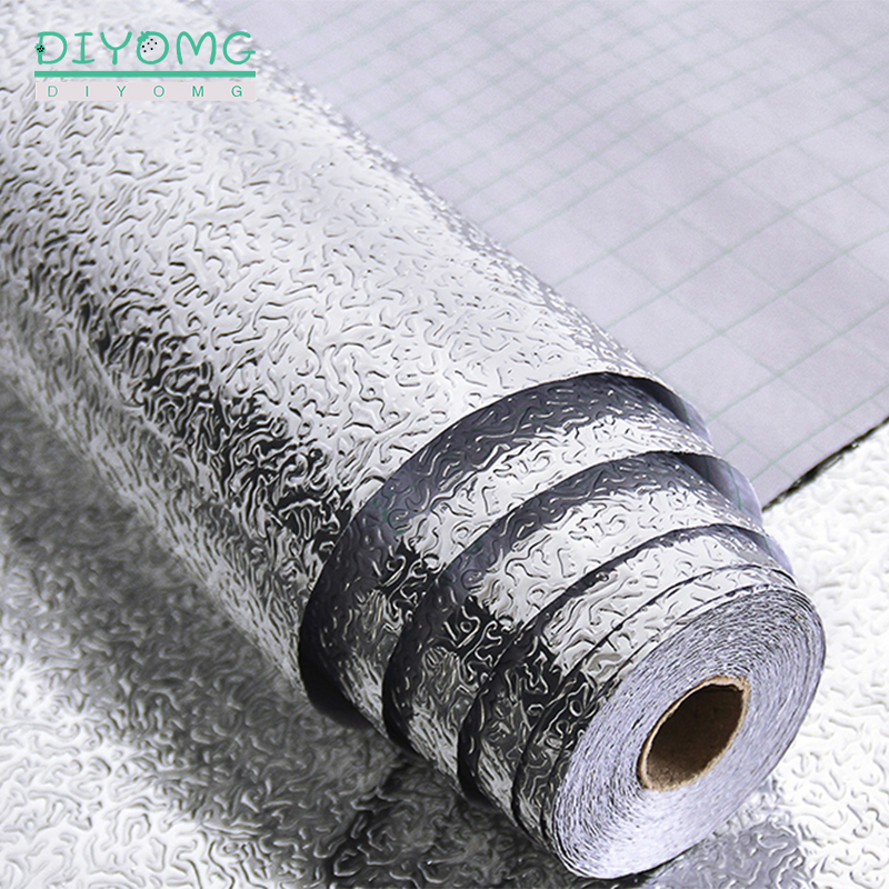 Самоклеящиеся наклейки из алюминиевой фольги для кухни, водостойкие
