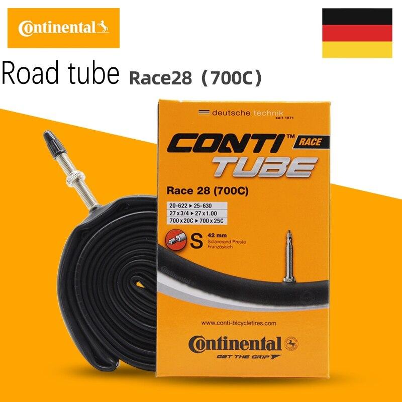 "3 x CONTINENTAL inner tube road race 80mm 60mm 42 mm Presta training 700 27 /"""