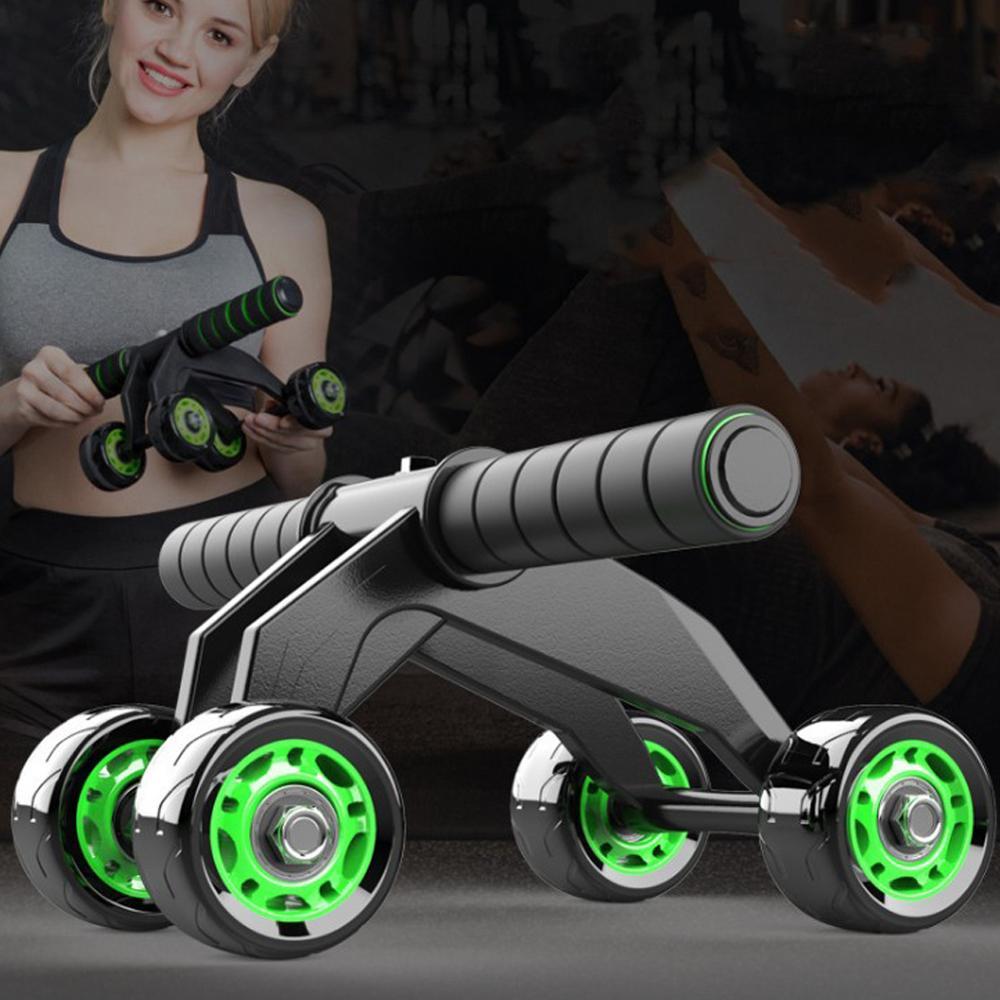 4 Wheel Abdominal Wheel Bearing Silent Roller Abdominal Wheel Exercise Abdominal Muscle Trainer