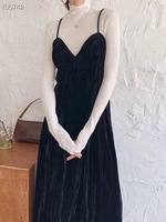 2020 Earlier Spring New Model Sexy Vintage Black Long Camisole Size S M L Free Shipping Worldwide