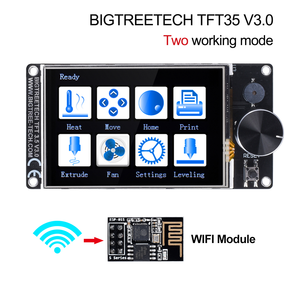 BIGTREETECH TFT35 V3.0 Touch Screen Compatible 12864LCD Wifi 3D Printer Parts Vs MKS TFT35 For SKR V1.4 Turbo SKR V1.3 Ender-3