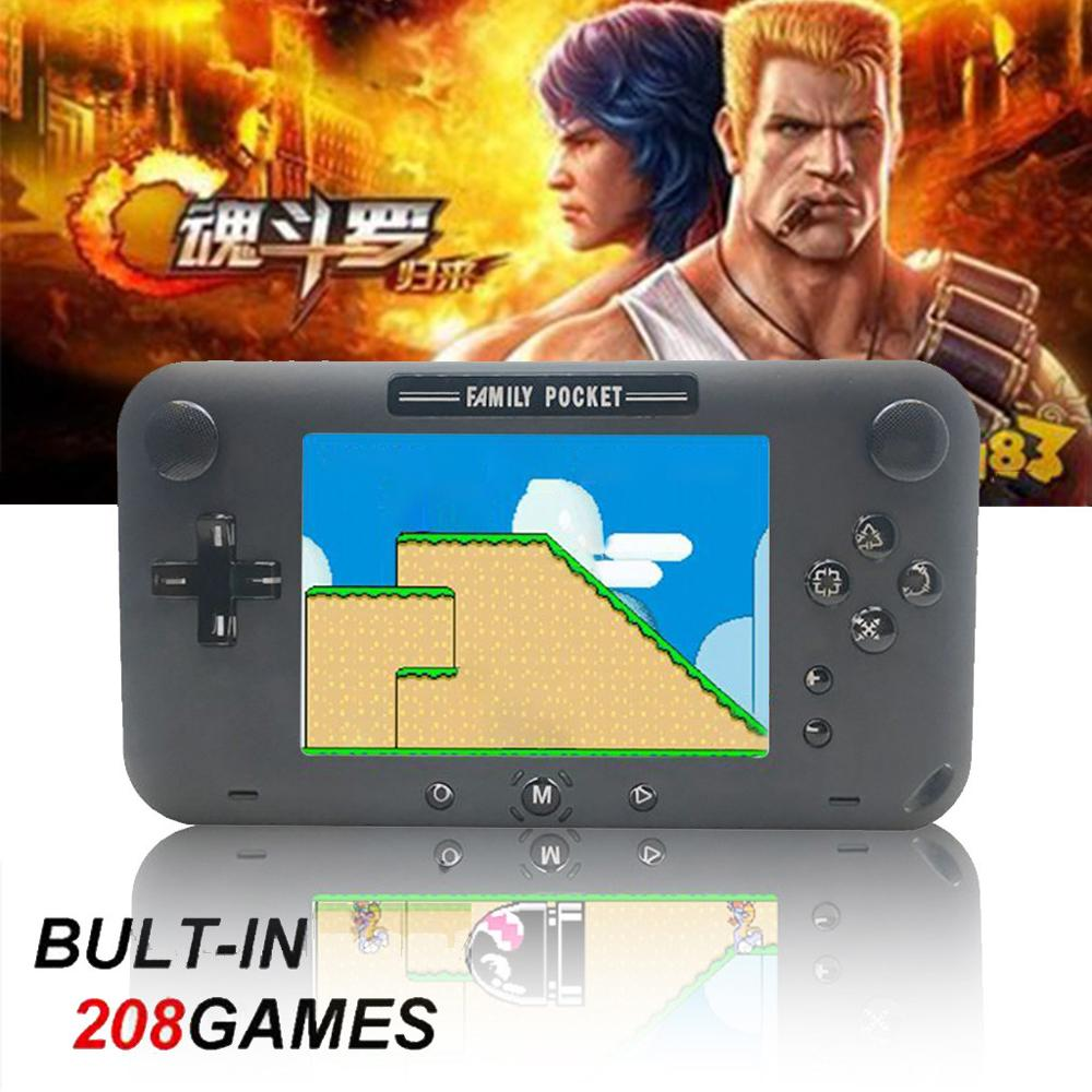 Handheld Game Console 4 Inch 208 Games Retro NES Game Player Classi Game Console Christmas Birthday Gifts For Kids  902