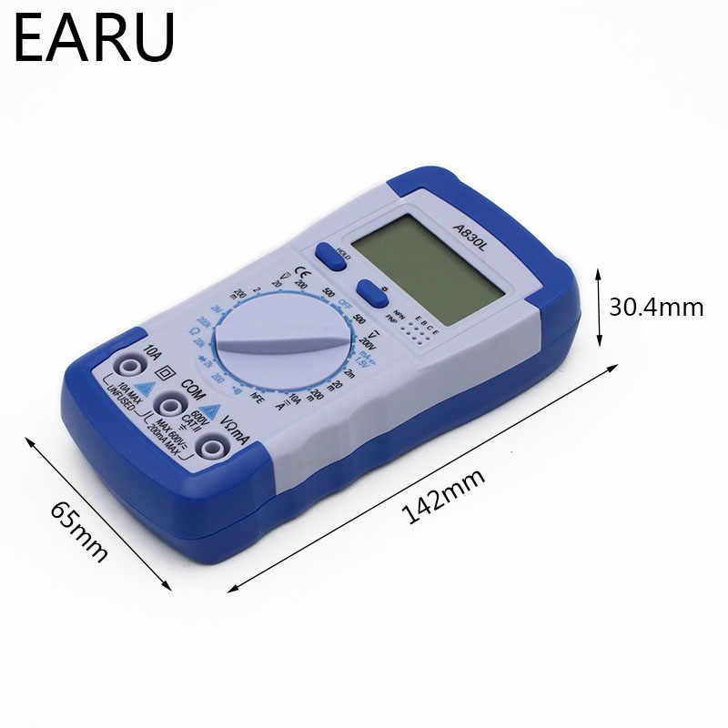A830l lcd 디지털 멀티 미터 dc ac 전압 다이오드 freguency 볼트 테스터 테스트 전류 전압계 전류계 게이지 디스플레이 도구