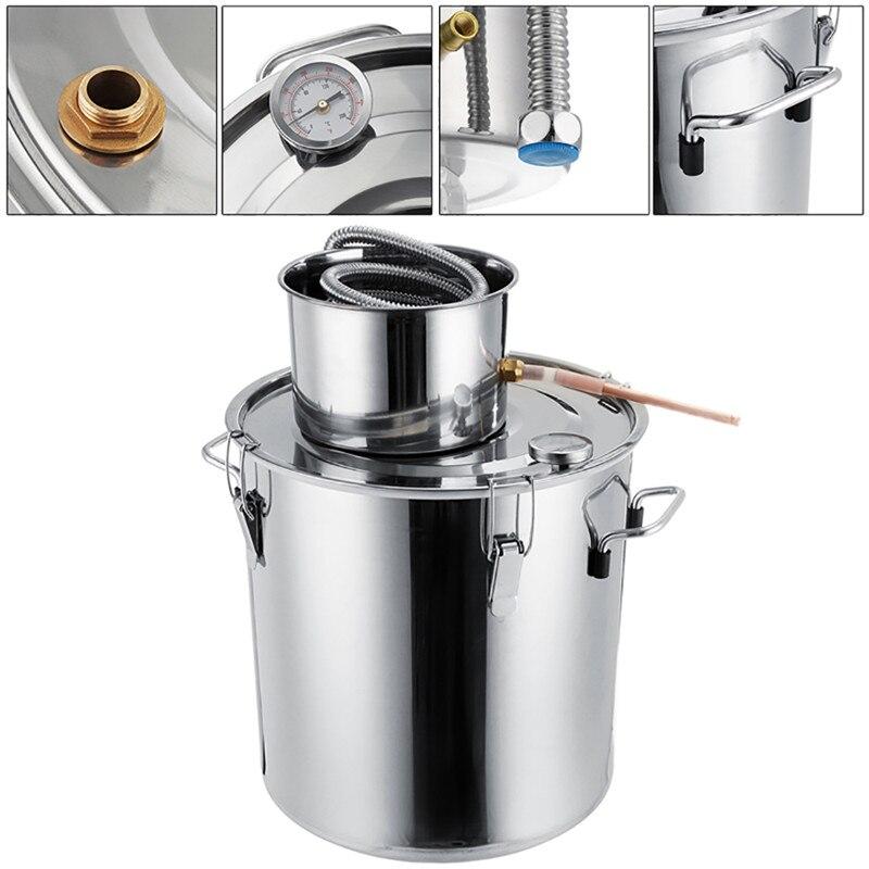 3GAL/5GAL/8GAL Distiller Alcohol Stainless Steel DIY Home Water Wine Making Essential Oil Brewing Kit