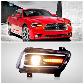 VLAND factory for car headlight for Charger LED head lamp 2011 2012 2013 2014 with turn signal with sequential indicator