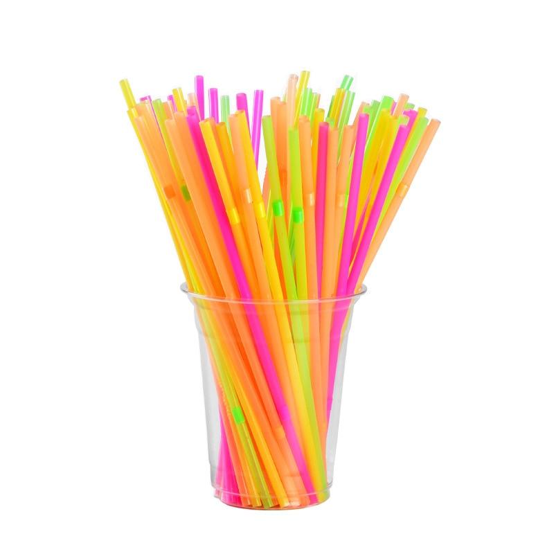 Pp Extendable Plastic Straw Disposable Soy Milk Color Elbow Milk Tea Drink Fruit Juice Color Extendable Long Straw