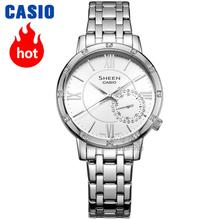 все цены на Casio watch Fashion pointer quartz waterproof ladies watch SHE-3046DP-7A SHE-3046GLP-7A SHE-3046GLP-7B SHE-3046SGP-7A онлайн