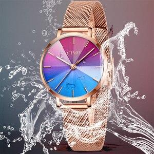 Image 4 - Ladies Watch CIVO 2020 New Listing Fashion Rainbow Watches Women Top Brand Luxury Waterproof Female Girl Gift Quartz Clock 8111