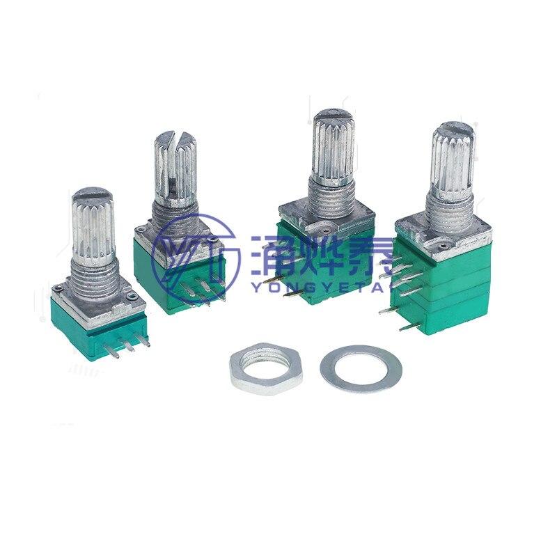 Потенциометр громкости YYT RV097, 3 контакта, 5 контактов, 6 контактов, 8 контактов, сопротивление B5KB10KB20KB50KB100KB500K, регулируемый потенциометр