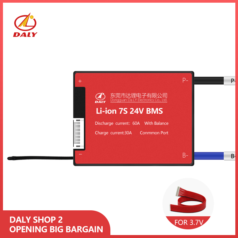 Daly Diy 7s Bms 15A 20A 30A 40A 50A 60A For 24v Balancer Liion Battery Mangemeant  Pcba Board Manufacture  With NTC