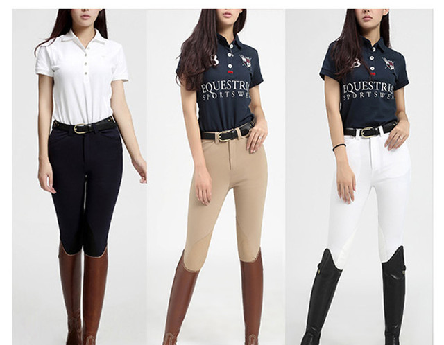 Womens Fashionably Designed Sport Equestrian Racing Pants 6