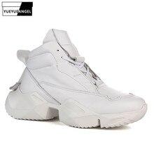 Brand Winter High-Top Platform Sneakers Men Genuine Leather