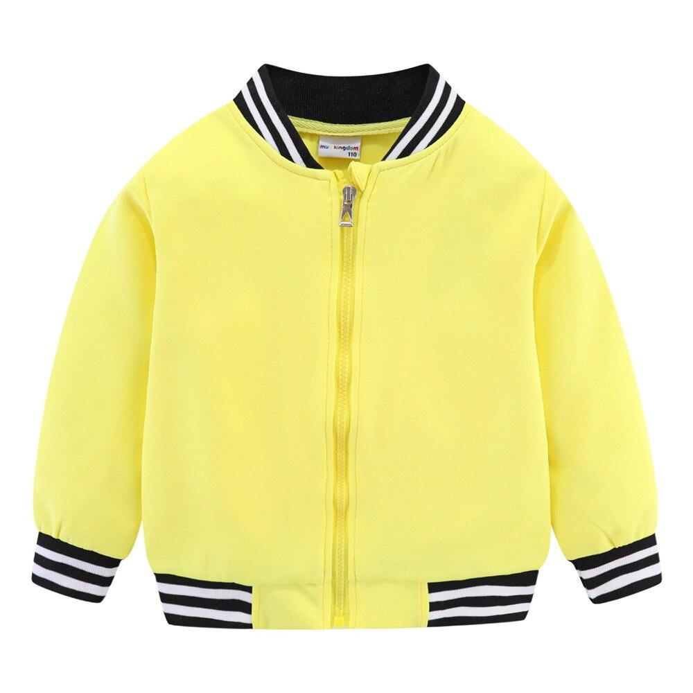 Mudkingdom Girls Boys Baseball Jacket Quick-dry Plain Kids Spring Autumn Clothes Fashion Outerwear Zip Up 2