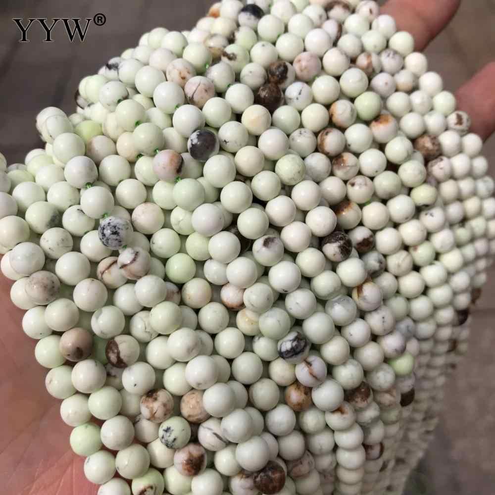 ที่ดีที่สุดคุณภาพมะนาว Chrysoprase ลูกปัดสีเขียวหลวมรอบลูกปัดแฟชั่นเครื่องประดับ DIY สร้อยข้อมือสร้อยคอ 4-9 มม.