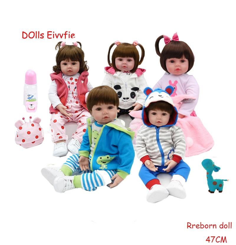 19 polegada silicone macio renascer bebe boneca boncas realista brinquedo menina reborn bebê bonecas presente de aniversário natal brinquedo