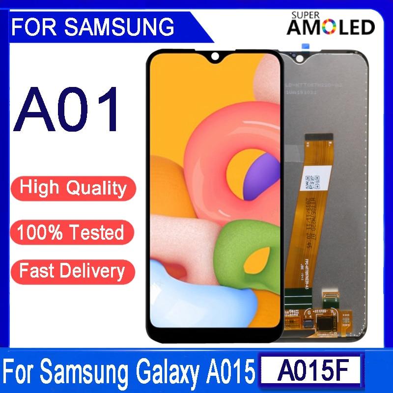 Оригинальный ЖК-дисплей 5,7 дюйма для Samsung Galaxy A01 A015, ЖК-дисплей, сенсорный экран, дигитайзер в сборе для Samsung A015 A015F A015G A015DS