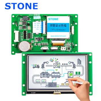 Used LCD HMI Monitor 4.3 Inch With PCB Board and TTL/RS485/RS232 Interface for Equipment Use diagnostic tool mb star c3 rs232 to rs485 cable mb sd connect c3 rs232 to rs485 cable with chip and pcb