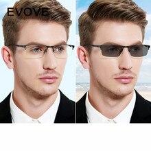 Evove Photochromic Glasses Men Chameleon Sunglasses Male Myopia Diopter