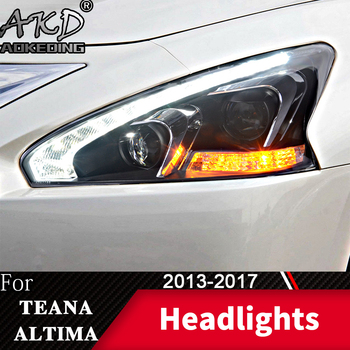 Head Lamp For Car Nissan Teana 2013-2017 Altima Headlights Fog Lights Day Running Light DRL H7 LED Bi Xenon Bulb Car Accessory
