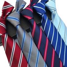 YISHLINE New 8CM Mens Tie Silk Ties Striped Blue Pink Men Wedding cravatta Man Bridegroom Necktie Autumn Winter20 styles