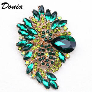 Donia jewelry Fashion hot brooch color large glass brooch crystal glass brooch women's coat accessories pin beautiful gift