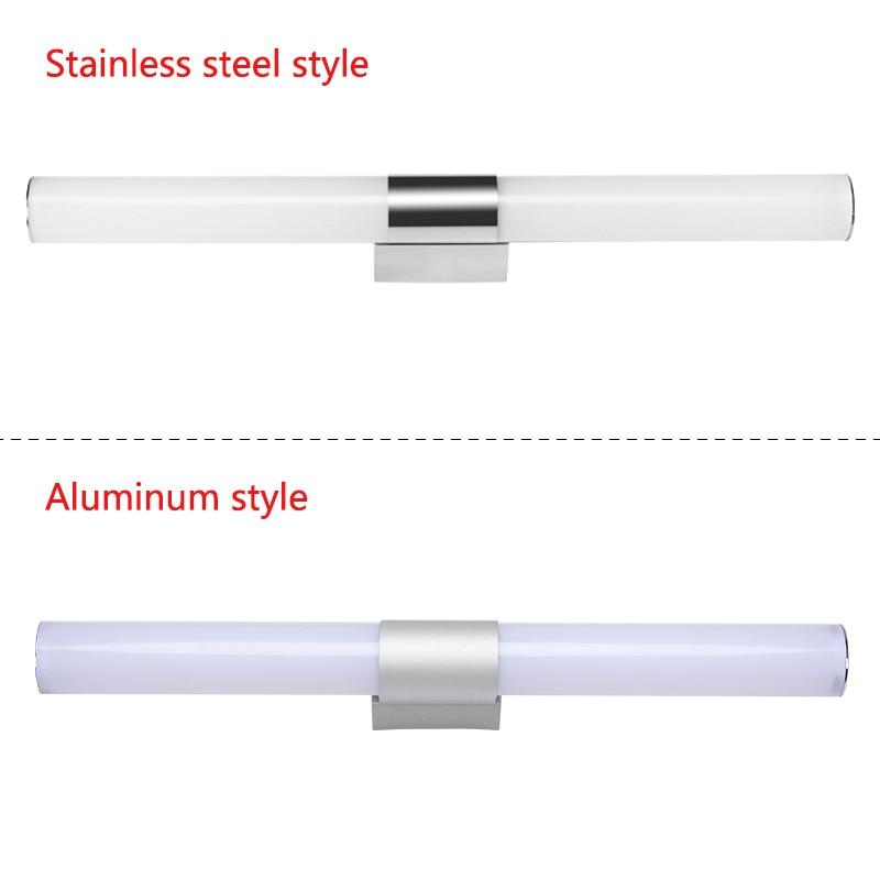 12/16/22W Mirror light Stainless steel & aluminum Modern LED Light Bathroom living room home hotel Wall Toilet lamp ZJQ0014 3