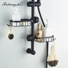 Shelf Organizer Hooks Rack-Holder Shampoo Soap Shower-Storage Aluminum-Basket for
